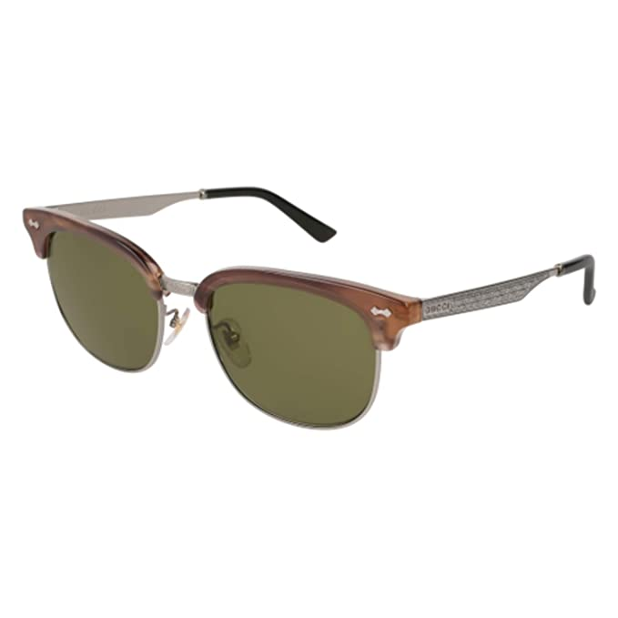 8de83dba82 Sunglasses Gucci GG 0051 SA- 004 HAVANA GREEN RUTHENIUM  Amazon.ca   Clothing   Accessories