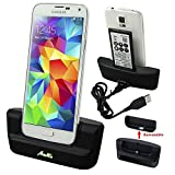 Galaxy S5 Charger - Battery Charging Station, AnoKe USB 3.0 Desktop Charging Docking Station Cradle Pad - Support Charging Spare Battery for Samsung Galaxy S5 Mobile Cell Phone Charger Dock
