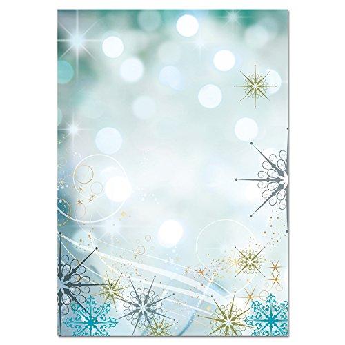Sigel Dp595 Weihnachtsbriefpapier Twinkle A4 100 Blatt Amazon De