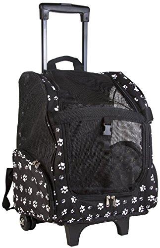 Barker Brands Inc. Wheeled Rolling Backpack Pet Carrier P...