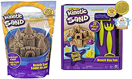 Kinetic Sand Beach Sand Kingdom Playset 3lbs of Beach Sand for Ages 3 and up