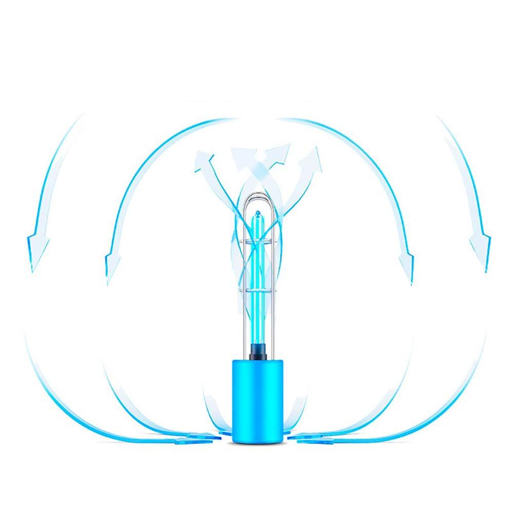 L/ámpara Germicida Ultravioleta Recargable Ourleeme Luz Esterilizadora De /ácaros De 5 Vatios Esterilizador Efectivo De Alta Transmisi/ón Con Ultravioleta Y Ozono Para Refrigerador Dormitorio Azul