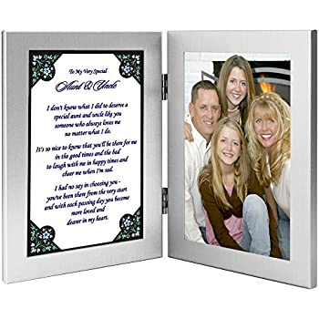 Amazon.com - Aunt and Uncle Gift From Niece or Nephew - Sweet Poem ...