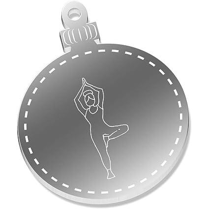 2 x 52mm Actitud del Yoga del Árbol Espejo Decoraciones de ...