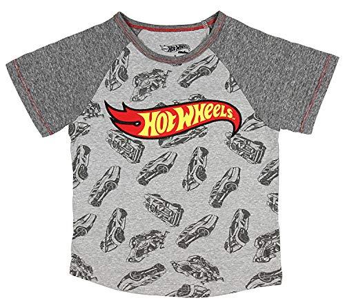 Hot Wheels Little Boys Logo & Race Cars T-Shirt