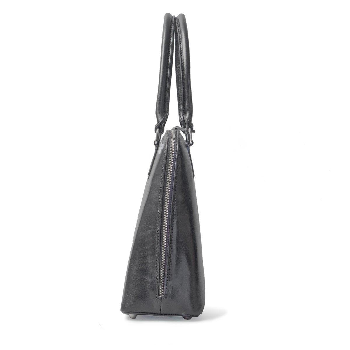 Maxwell Scott Luxury Ladies Black Leather Work Bag Purse for Macbook (Fiorella) by Maxwell Scott Bags (Image #4)