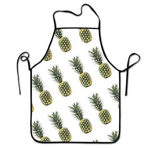 FEDDIY Colorful Kitchen Aprons Bib Apron Pineapple Adult's