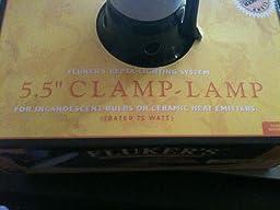 Amazon Com Flukers 5 5 Quot Repta Clamp Lamp With Switch For Reptiles Pet Habitat Lights Pet