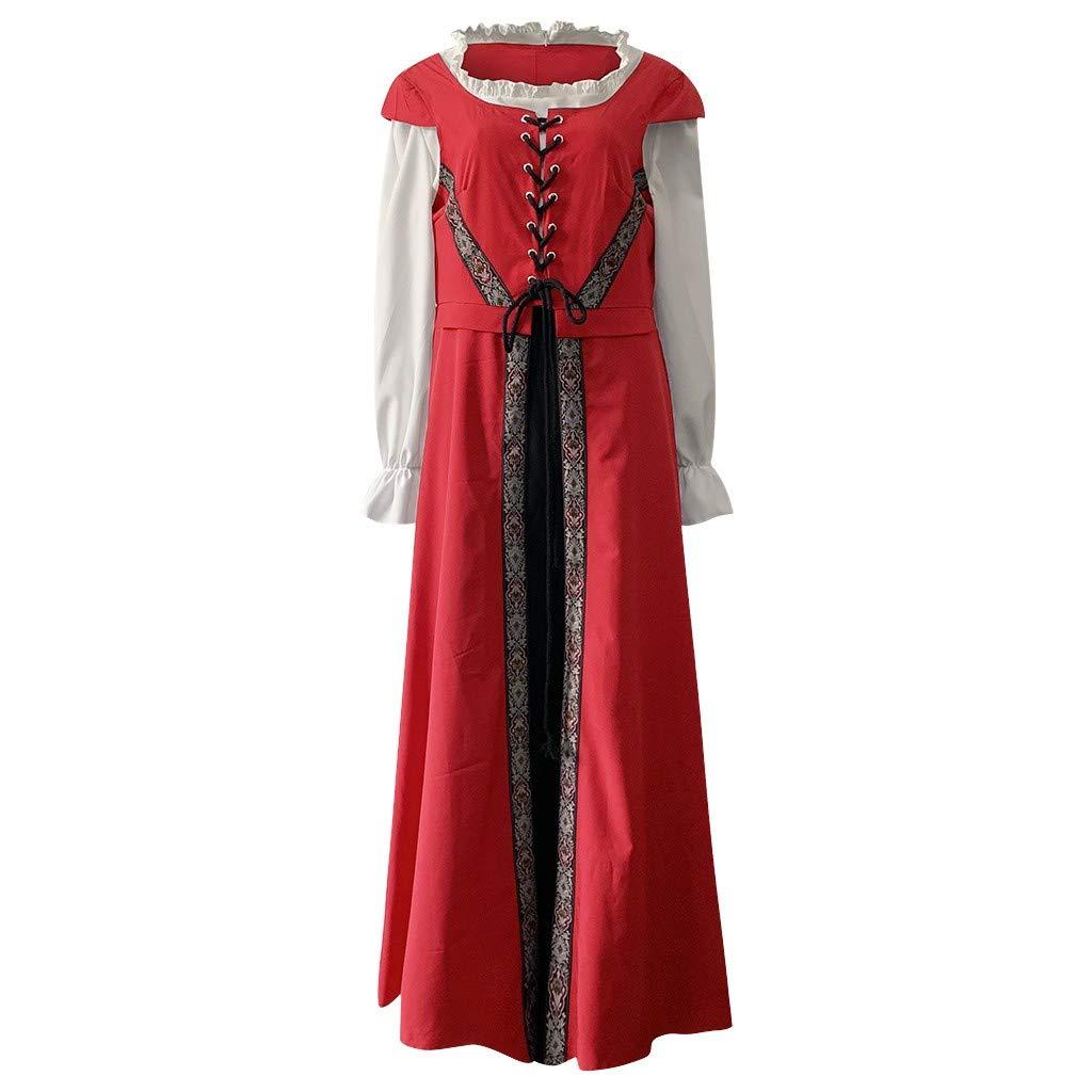 Estilo Retro c/óctel para Halloween Disfraz de Fiesta Medieval para Mujer Renacimiento Vintage Talla Grande UK 8-22 Vestido g/ótico para Cosplay