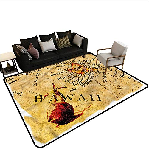 Vintage Hawaii,Floor Mat Home Decoration Supplies 36