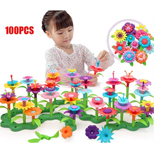 Build-a-Bouquet Floral Arrangement Playset - BPA Free, Phthalates Free, Creative Play Toys for Gross Motors, Fine Motor Skill Development. Toys and Games]()