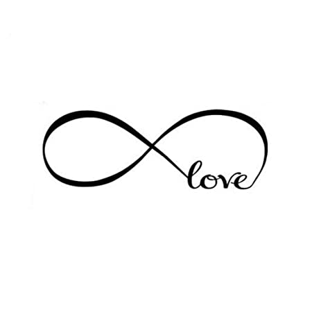 Stonges Love Infinity Symbol Wall Decal Quotes Vinyl Wall Saying