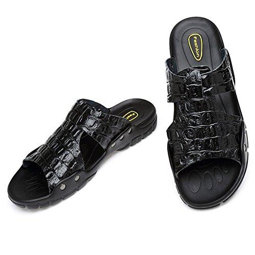 De 1 41 Hombres Pantuflas del Zapatillas Playa 3 Los De Negro Zapatillas Ocio Antideslizantes tamaño Respirables Verano Wangcui Deslizador De Azul De Color EU q4FHw5Rx