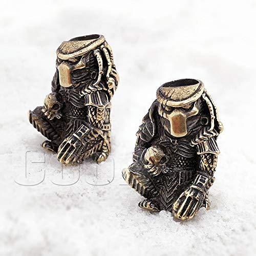 CooB EDC Paracord Bead Beads Pendant Charm. Predator vs Alien Collection. Amazing Hand-Casted Beads for Paracord Bracelet, Keychain, Knife Lanyard, Charm Zipper Pull, Hair Beard (Predator Bronze)
