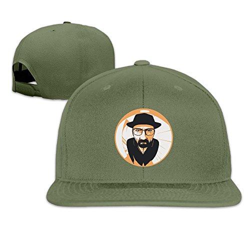 Breaking Bad Fish Eye Lens Adjustable Hats Peak Baseball Caps ForestGreen