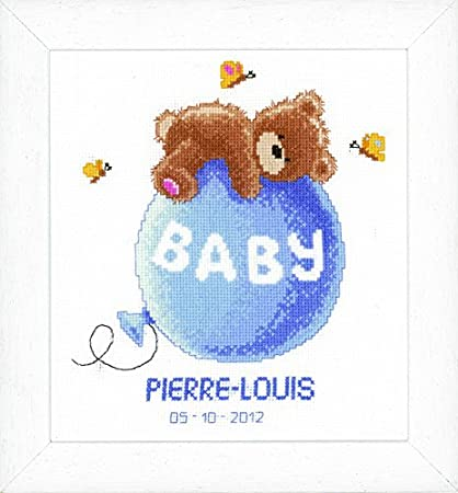 Vervaco Birth Record New-Born Cross Stitch Kit