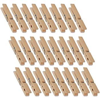 Natural Wooden Clothespins - Large Clothespins for Shirts, Sheets, Pants, Decor - 24 Pack