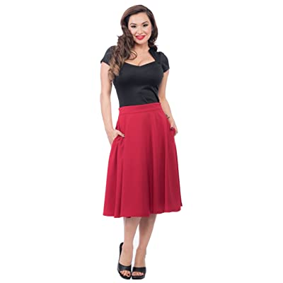 Steady Pocket High Waist Thrills Skirt In Red at Women's Clothing store