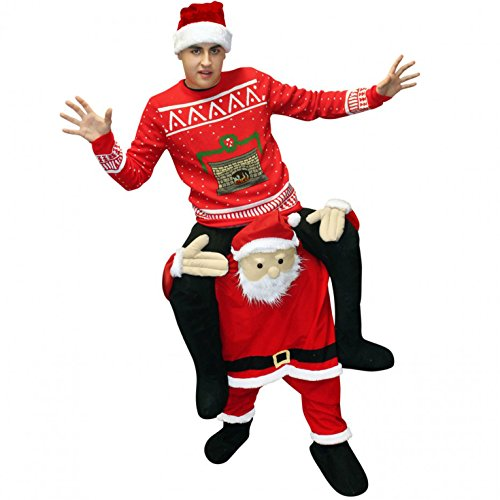 Morphsuits Men's Piggyback Costume Adult, Santa, One Size - Santa Halloween