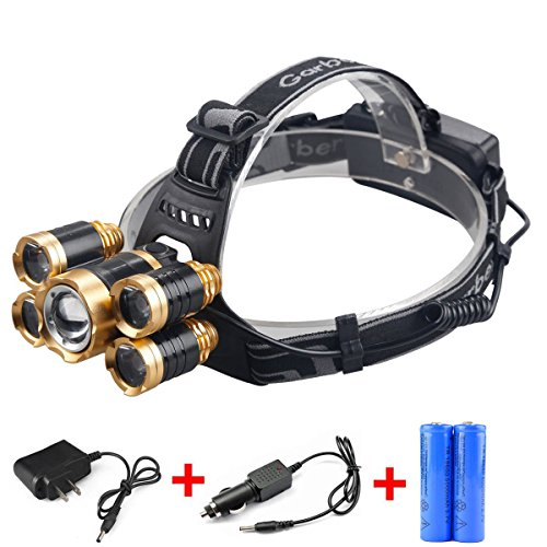 Waterproof Zoomable Adjust Focus Headlamp - 4