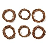 Bulk Buy: Darice DIY Crafts Grapevine Wreath Natural 6 inches (6-Pack) GPV6