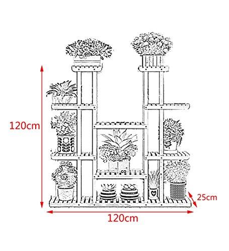 zengai tag re pour fleurs grande taille pot de fleurs bois massif tag re les plantes assembler. Black Bedroom Furniture Sets. Home Design Ideas