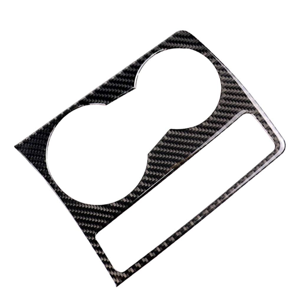 B Blesiya Inner Cup Holder GPS Navigation Panel Frame Carbon Fiber for Audi A4 B8 A5