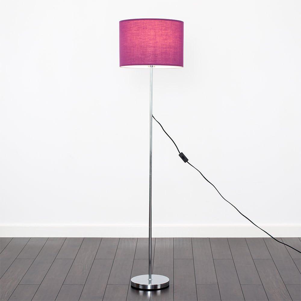 Modern Standard Floor Lamp Base in a Polished Chrome Metal Finish