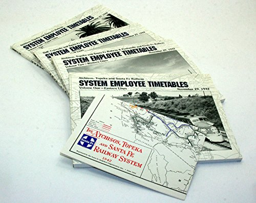 Atchison Topeka and Santa Fe Railway System Employee Timetables, Vol. 1-4 : Eastern Lines, November 29, 1942