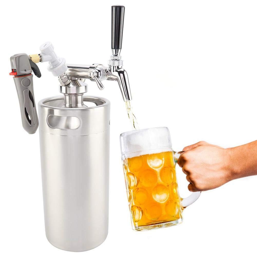 il più economico Acogedor Kit Sistema Keg, Mini Mini Mini Keg con regolatore di fusti e distributore di Birra, 3.6LSistema pressurizzato del Rubinetto del Growler della Birra Inossidabile, Distributore di Birra Regolabile  tutti i prodotti ottengono fino al 34% di sconto
