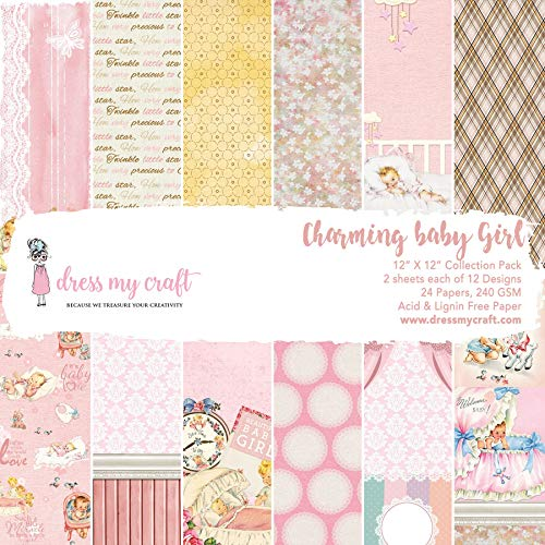 Paper Dress Vintage - Dress My Craft DMCP1541 Charming Baby Girl Paper Pad 12