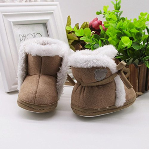 Xshuai Neugeborene Baby Mädchen Jungen Bär Druck Herbst Winter Soft Sole Stiefel Prewalker Warm Schuhe Kaffee