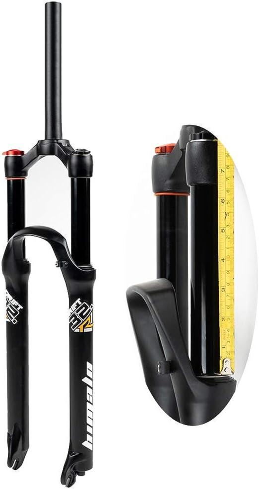 LvTu Bicicleta Aire Suspensión Horquilla Delantera 26/27,5/29 Pulgadas Horquillas MTB, Viaje 160mm para XC Offroad, Bicicleta de Montaña, Ciclismo Cuesta Abajo: Amazon.es: Jardín