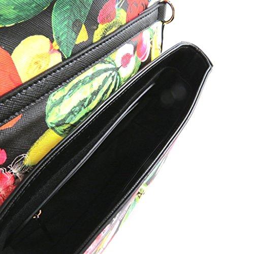 Borsa creatore Christian Lacroixdi colore nero (frutta)- 23.5x15.5x7 cm.