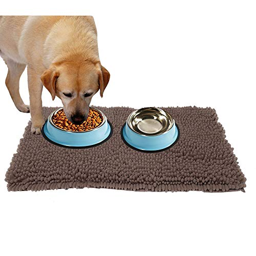 Ultra Absorbent Dog Door Mat for Dirty Dog, Microfiber Mat for Food and Water Bowle, Exrta Thick Pet Bed and Kennel Pad - Prevent Mud Dirt, Durable, Quick Drying, Washable, Non-Slip 30