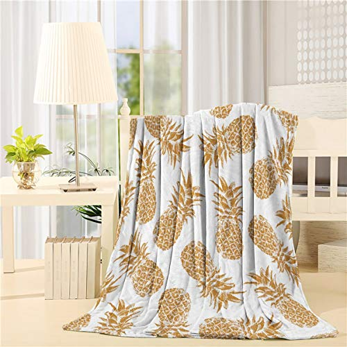 Cheap Luxury Adult Throw Blanket Warm Pineapple Print Soft Toned with Concept Image Multicolor Super Soft Blankets for Bedcover Couch Stadium 40x50inch Black Friday & Cyber Monday 2019
