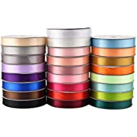ESUPPORT Thicker Silk Fabric Ribbon Wedding Party Decor Solid Colors Satin Ribbon Gift Wrapping Package 100 Yards x 1…