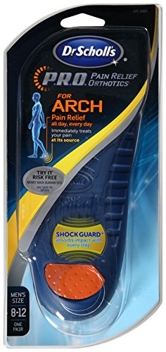 c8c78107e7 Amazon.com: Dr. Scholl's P.R.O. Pain Relief Orthotics for Arch- Men's, Size  8-12: Health & Personal Care