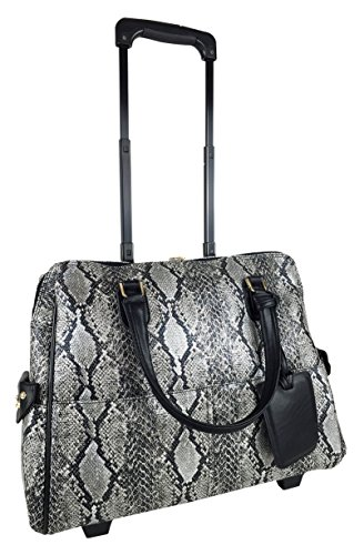 20''l Computer/laptop Bag Tote Duffel Rolling Wheel Case Purse Carry Tablet Snake by Trendyflyer Collection