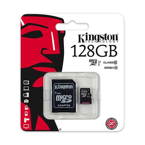2 PACK - Kingston 128GB MicroSD XC Class 10 UHS-1 TF MicroSDHC TransFlash 45MB/s Read High Speed Memory Card SDC10G2/128GB LOT OF 2 with SD Adapter and MemoryMarketMicroSD & SD Memory Card Reader