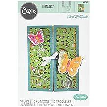 Sizzix 661390 Thinlits Die Set, Gatefold Card, Butterflies by Lori Whitlock (10-Pack),,