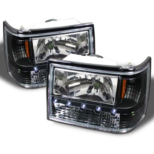 Spyder Auto LED Black ZJ Jeep Grand Cherokee Crystal Headlights