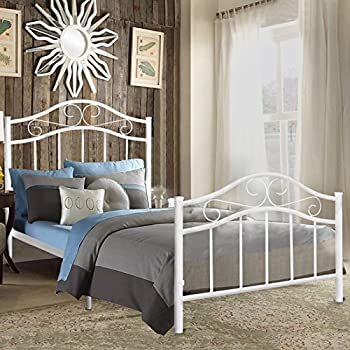Kingpex Metal Bed Frame Twin Size/Metal Platform With Headboard And  Footboard/Steel Slats Bed/Mattress Foundation/Box Spring Replacement/6  Legs/for Boys ...