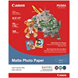Genuine Canon MP-101, 8.5 x 11-Inch, LTR Size, Matte Photo Paper, 50 Sheets/Package