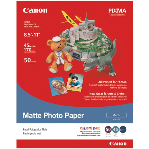 Canon Matte Photo Paper, 8.5 x 11 Inches, 50 Sheets (7981A004) - Adorama Photo Paper