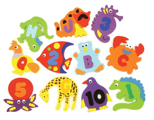 Chenille Kraft WonderFoam Bath Animals, 39 Pieces ()