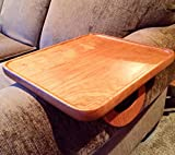 Sofa Arm Snack Tray Table --- Cherry (Rectangular)