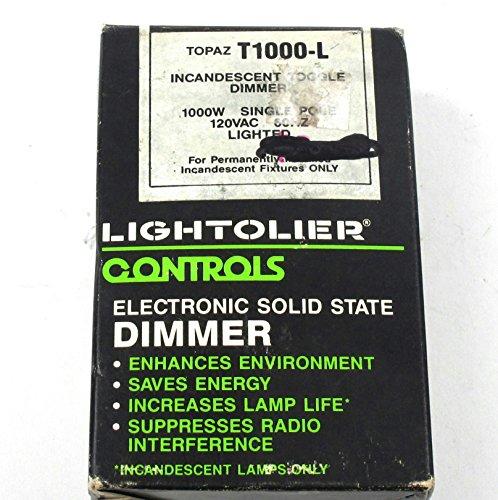 Lightolier Controls Electronic Soild State Dimmer Topaz T1000-L