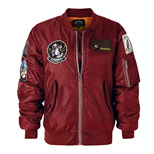 AVIDACE Classic Bomber Jacket Women Nylon Quilted with Patches Size XXXL (Patch Bomber)