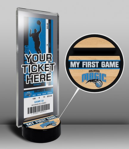 NBA Orlando Magic My First Game Ticket Display Stand, One Size, Multicolored by That's My Ticket